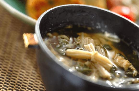 モロヘイヤのふんわり卵スープ