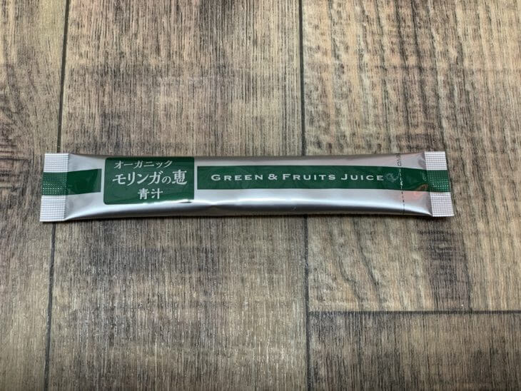 オーガニックモリンガの恵青汁の袋