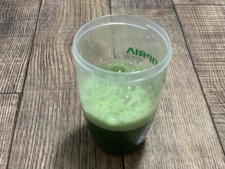 リッチグリーン青汁の泡(酵素)